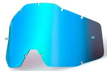 100 PROCENT SZYBKA POJEDYNCZA DO GOGLI RACECRAFT/ACCURI/STRATA MIRROR BLUE