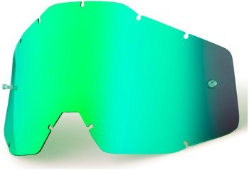 100 PROCENT SZYBKA POJEDYNCZA DO GOGLI RACECRAFT/ACCURI/STRATA MIRROR GREEN