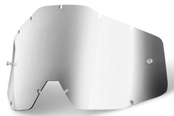 100 PROCENT SZYBKA POJEDYNCZA DO GOGLI RACECRAFT/ACCURI/STRATA MIRROR SILVER